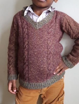 Finished jumper; didn't have my model's permission to feature on my blog.