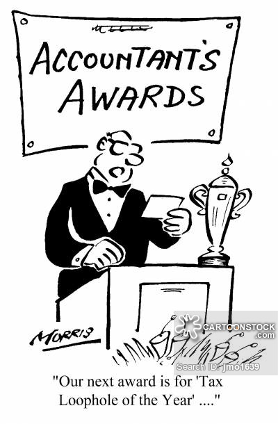 "Accountant's Awards - ""Our next award is for 'Tax Loophole of the Year'..."""